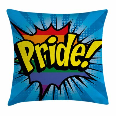 Cartoon Comic Blast Square Pillow Cover Size: 16 x 16