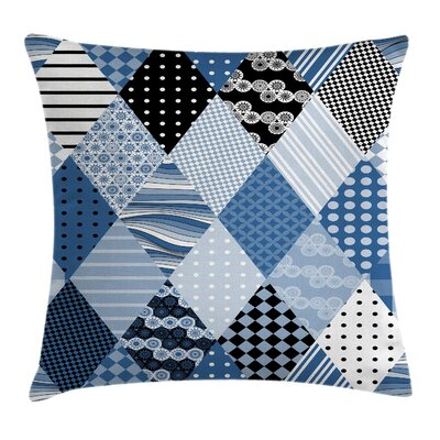 Diamond Shaped Patchworks Square Pillow Cover Size: 16 x 16