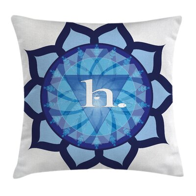 Indian Chakra Eastern Art Square Pillow Cover Size: 24 x 24