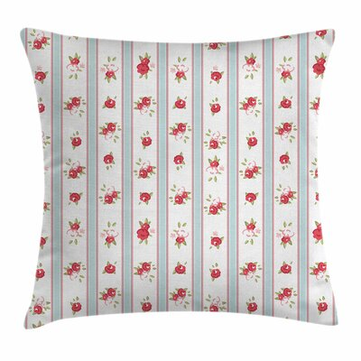 Rose Blooms Square Pillow Cover Size: 24 x 24