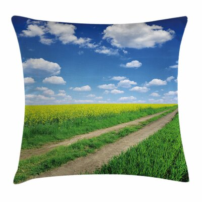 Rapeseeds Field Square Pillow Cover Size: 16 x 16
