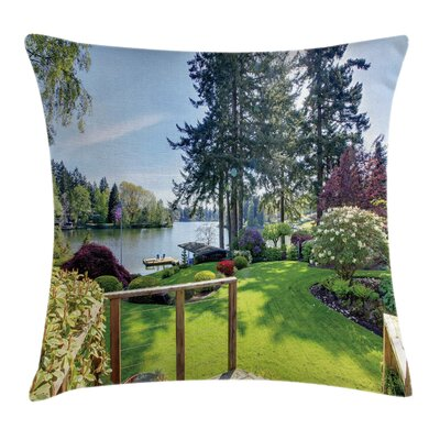 Nature Backyard Garden Spring Square Pillow Cover Size: 20 x 20
