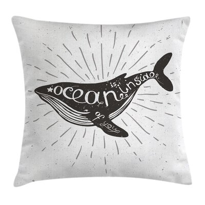 Ocean Inside You Square Pillow Cover Size: 20