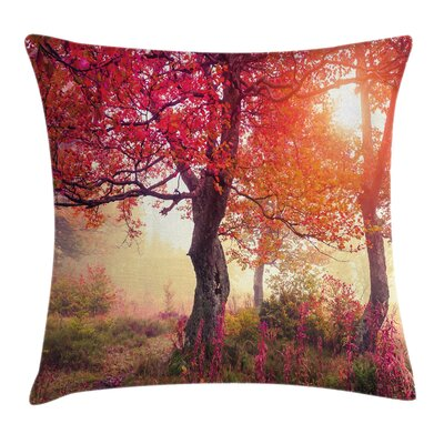 Fall Decor Flowers Park Nature Square Pillow Cover Size: 20 x 20