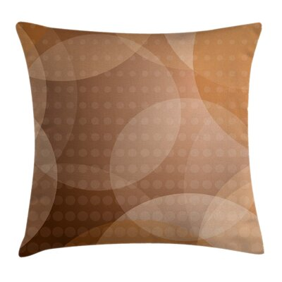 Overlapping Circles Dots Square Pillow Cover Size: 24 x 24