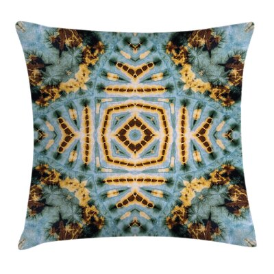 Elegant Tie Dye Grunge Square Pillow Cover Size: 16 x 16