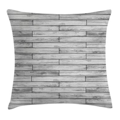 Parquet Wood Retro Square Pillow Cover Size: 24 x 24