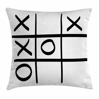 Xo Decor Game Hobby Pattern Square Pillow Cover Size: 24 x 24