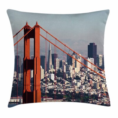 San Francisco Square Pillow Cover Size: 18