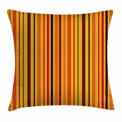 Vibrant Vertical Lines Square Pillow Cover Size: 18 x 18