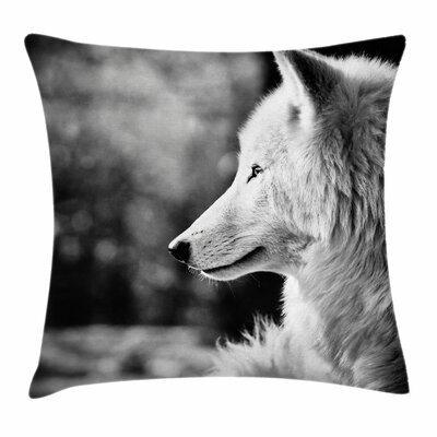 Wolf Portrait Square Pillow Cover Size: 18 x 18