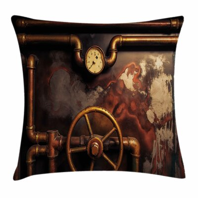 Steam Pipes Square Pillow Cover Size: 24 x 24