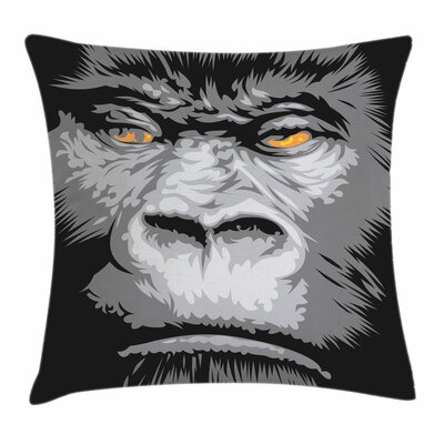 Modern Wild Gorilla Eyes Square Pillow Cover Size: 20 x 20