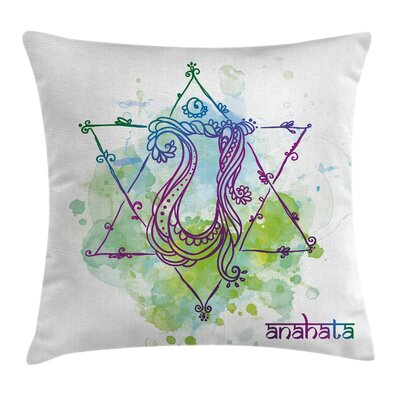 Zen Healing Soul Mystic Energy Square Pillow Cover Size: 18 x 18