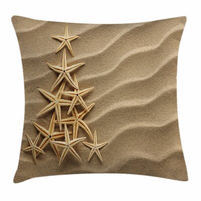 Starfish Decor Tree From Shells Square Pillow Cover Size: 18 x 18