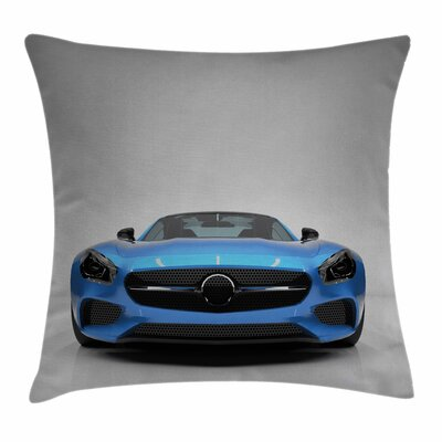 Teen Room Decor Sports Vehicle Square Pillow Cover Size: 18 x 18