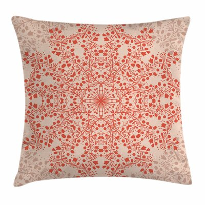 Rural Twigs Blooms Square Pillow Cover Size: 24 x 24