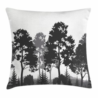 Summer Forest Square Pillow Cover Size: 24 x 24