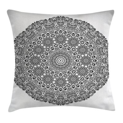 Fabric Indian Mandala Lace Art Square Pillow Cover Size: 16 x 16