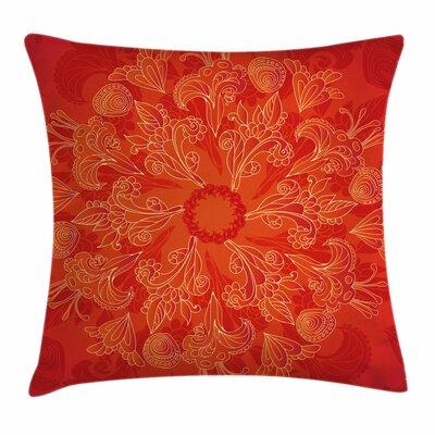 Vibrant Doodle Art Square Pillow Cover Size: 18 x 18