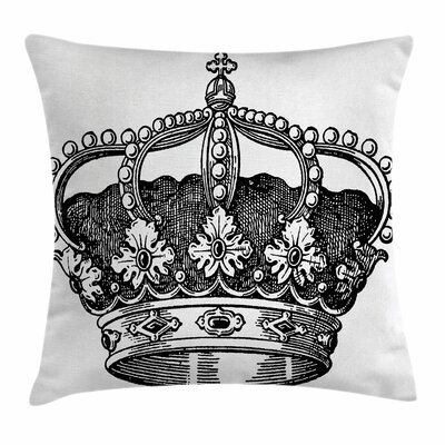 Antique Royal Monarch Square Pillow Cover Size: 18 x 18