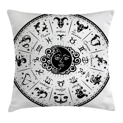Fabric Zodiac Sign Square Pillow Cover Size: 18 x 18