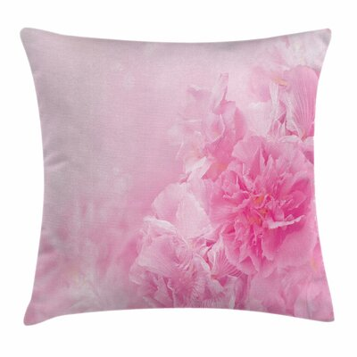 Spring Flora Shabby Square Pillow Cover Size: 18 x 18
