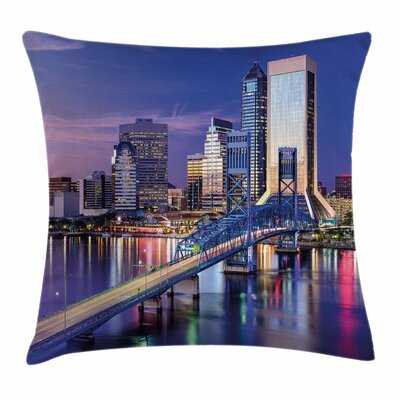 United States Florida Bridge Square Pillow Cover Size: 20 x 20