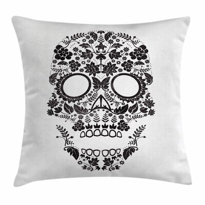 Sugar Skull Latin Tradition Art Square Pillow Cover Size: 18 x 18