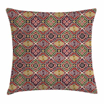 Japanese Asian Antique Motifs Square Pillow Cover Size: 24 x 24