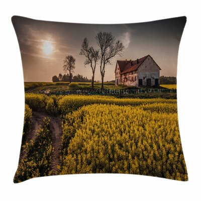 Country Home Old Rural House Square Pillow Cover Size: 18 x 18