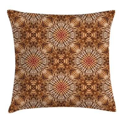 Abstract Tie Dye Shell Square Pillow Cover Size: 20 x 20