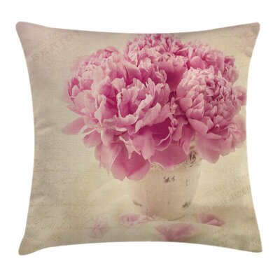 Peony Vase Square Pillow Cover Size: 20 x 20