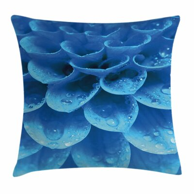 Gerbera Abstract Petals Square Pillow Cover Size: 18 x 18