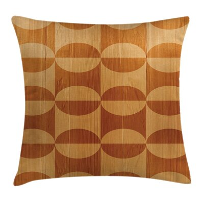 Rustic Decor Wooden Effective Square Pillow Cover Size: 18 x 18