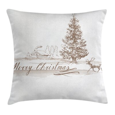 Christmas Vintage Classic Xmas Square Pillow Cover Size: 18 x 18