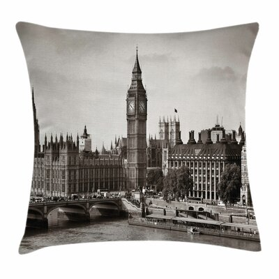 London Westminster with Big Ben Square Pillow Cover Size: 16 x 16