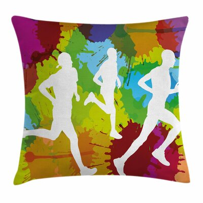 Fitness Runners Pillow Cover Size: 24 x 24