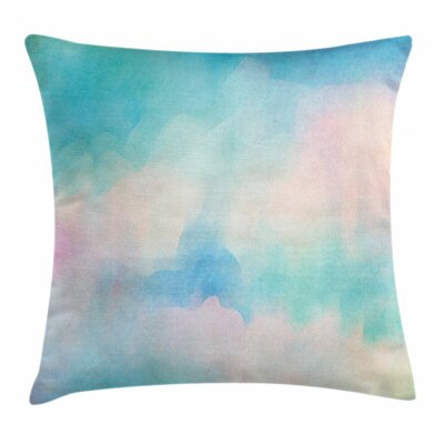 Pastel Grunge Astral Dreamy Square Pillow Cover Size: 16 x 16