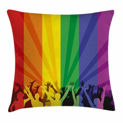 People Celebrating Square Pillow Cover Size: 18 x 18
