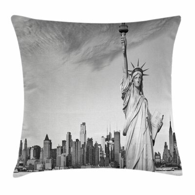 Liberty Statue Square Pillow Cover Size: 16 x 16