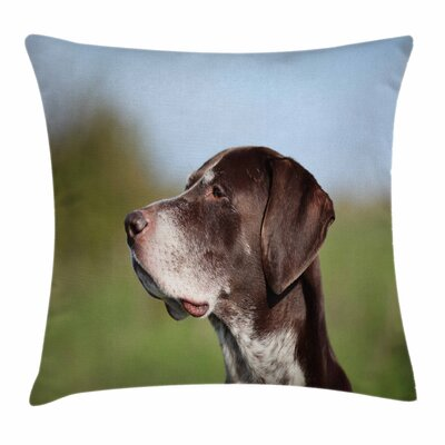 German Pointer Square Pillow Cover Size: 24 x 24
