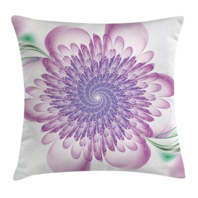 Floral Harmonic Spirals Square Pillow Cover Size: 18 x 18