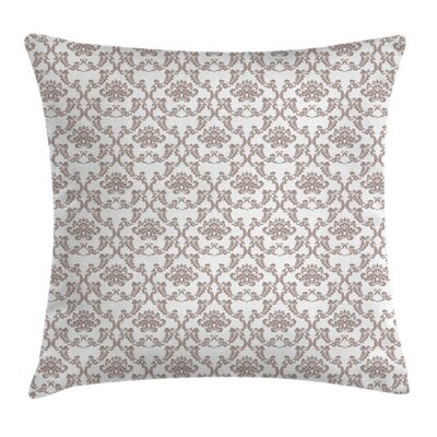 French Damask Square Pillow Cover Size: 24 x 24