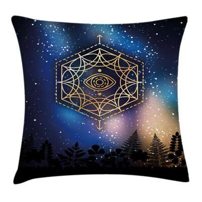 Glimmer Third Eye Milky Way Square Pillow Cover Size: 20 x 20