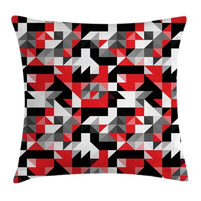 Half Triangles Square Pillow Cover Size: 16 x 16