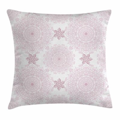 Mandala Victorian Damask Square Pillow Cover Size: 18 x 18
