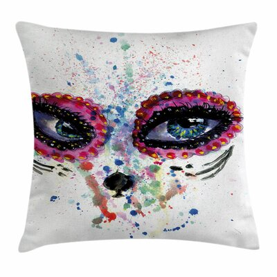 Spooky Big Eyes Square Pillow Cover Size: 24 x 24