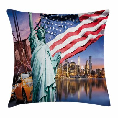 Statue of Liberty Square Pillow Cover Size: 18 x 18