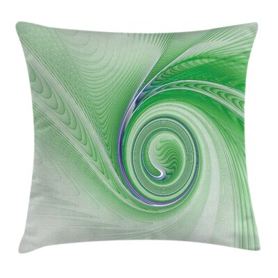 Abstract Fractal Spirals Square Pillow Cover Size: 24 x 24